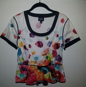 Flower Peplum shirt